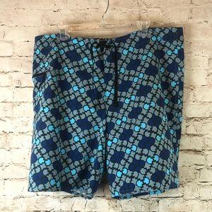 Men's Patagonia Board/Swim Shorts Sz 40 Gray Blue